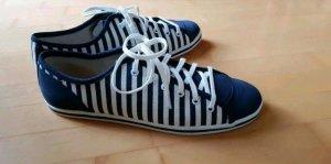 Buffalo Sneakers met veters wit-blauw