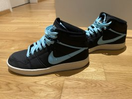 Nike High Top Sneaker black-neon blue