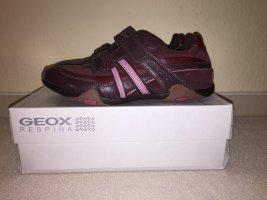 Geox Respira Basket velcro bordeau-rose cuir