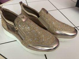 Sneaker Gold mit Steinen