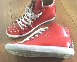 Sneaker Gr. 39 rot mit goldenen Nieten wie neu