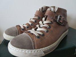 Sneaker Halbschuhe braun Leder Casual 4.0