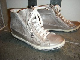 High Top Sneaker grey brown-natural white leather