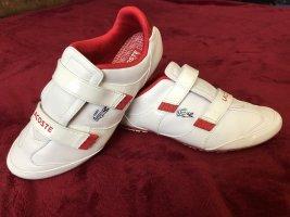 Lacoste Sneaker con strappi rosso scuro-bianco