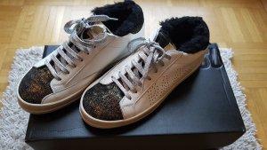 Sneaker Leder mit Fell von P448 wie NEU