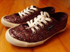 Sneaker Lila Glitzer