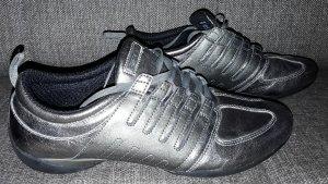 Sneaker metallic Leder atmungsaktiv