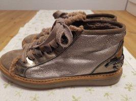 AGL Sneakers met veters zilver-grijs-bruin