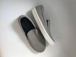 Zara Slip-on Sneakers silver-colored-light grey cotton