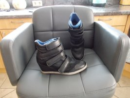 Bullboxer Wedge Sneaker black leather