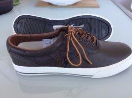 Polo Ralph Lauren Sneakers met veters donkerbruin Leer
