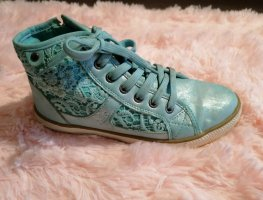 Sneaker schimmerndes Blau