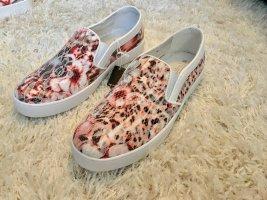 Sneaker Schuhe 38 Bugatti Blumenprint NEU rose weiß Slipper