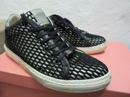 Sneaker schwarz-weiß-silber Casual