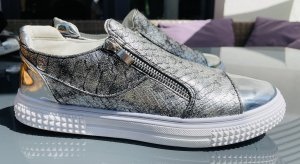 Slip-on Sneakers silver-colored