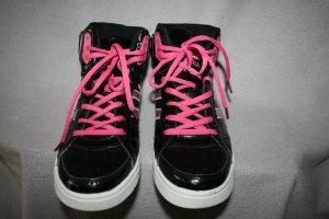 Sneaker / Turnschuh / Allrounder schwarz / pink /silber Gr. 37 von sandic - wie NEU