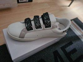 Zapatillas con hook-and-loop fastener blanco-negro