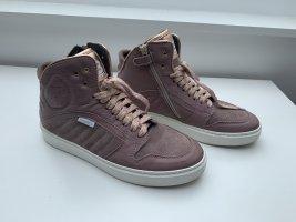 Bounce Sneaker alta color oro rosa