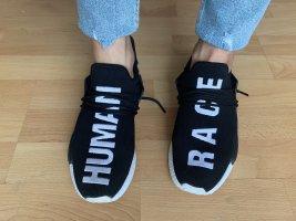 Sneaker Turnschuhe Schriftzug Aufschrift Human Race Stoff Sommer