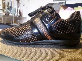 Bikkembergs Sneaker slip-on nero-arancio neon
