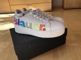 Blauer Lace-Up Sneaker cream