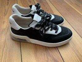 Coach Lace-Up Sneaker black-white