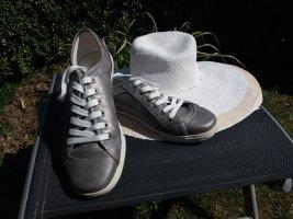 Sneaker von Dockers silbergrau Gr.40 -Leder-NEU !