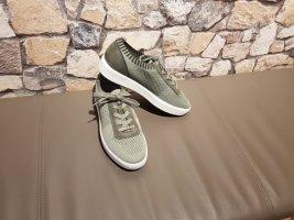 Jana Zapatilla brogue verde claro-caqui fibra textil
