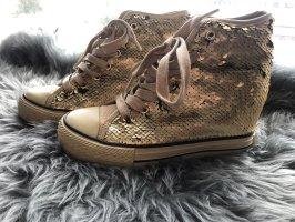 Beppi Wedge Sneaker gold-colored
