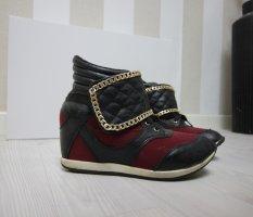 Sandalo a zeppa multicolore