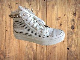 Sneaker weiß Italy Leder