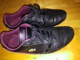 Lacoste Basket velcro noir-violet