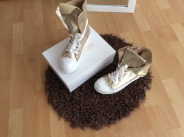 Beauty Girl's Lace-Up Sneaker gold-colored