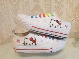 Sneakers Handbemalt Hello Kitty gr.37