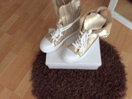 Beauty Girl's Sneakers met veters goud