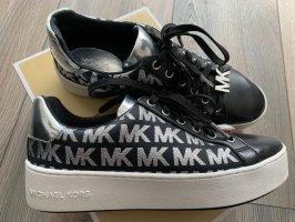 Michael Kors Sneakers met veters zwart-zilver