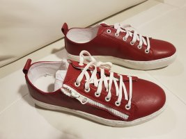 Alba Moda Basket à lacet blanc-rouge carmin