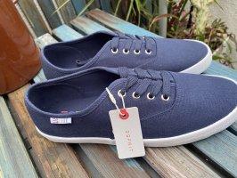 Sneakers sport Stoff Schuhe blau neu 39 Esprit