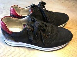 Gabor Comfort Sneaker slip-on nero-rosso mattone Pelle
