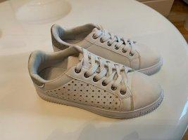 Sneakers weiß mit silberfarbene Applikation, Größe 37