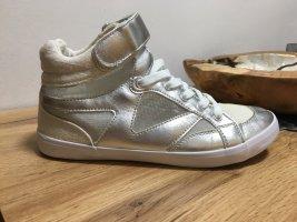 Velcro Sneakers silver-colored-white