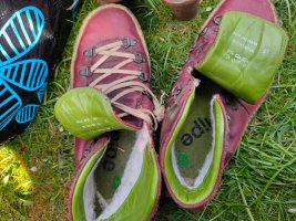 Snipe Zapatos brogue carmín