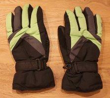 Crivit Rękawice termiczne czarny-zielony neonowy