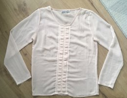Soaked in luxery Bluse Tunika Top Shirt Hemd rosa Rose Rüschen M