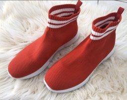 Bianco Wysokie trampki czerwony-biały