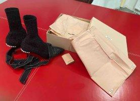 Miu Miu Wciągane buty za kostkę czarny