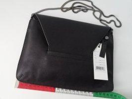 Someday Tasche Schwarz Leder Handtasche Umhängetasche Clutch Abendtasche