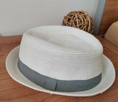 H&M Cappello parasole bianco-grigio chiaro