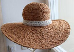 Cappello di paglia sabbia-bianco