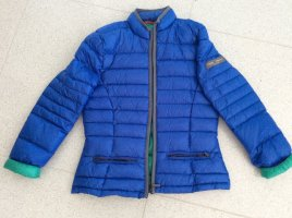 Quilted Jacket neon blue polyamide